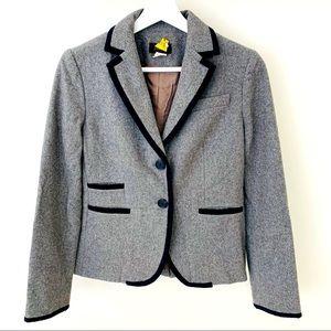 JCrew Gray Schoolboy Wool Blazer - 2